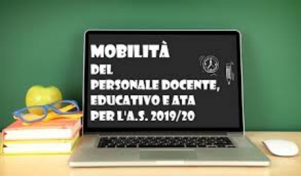 Mobilità personale docente e ATA a. s. 2019-2010